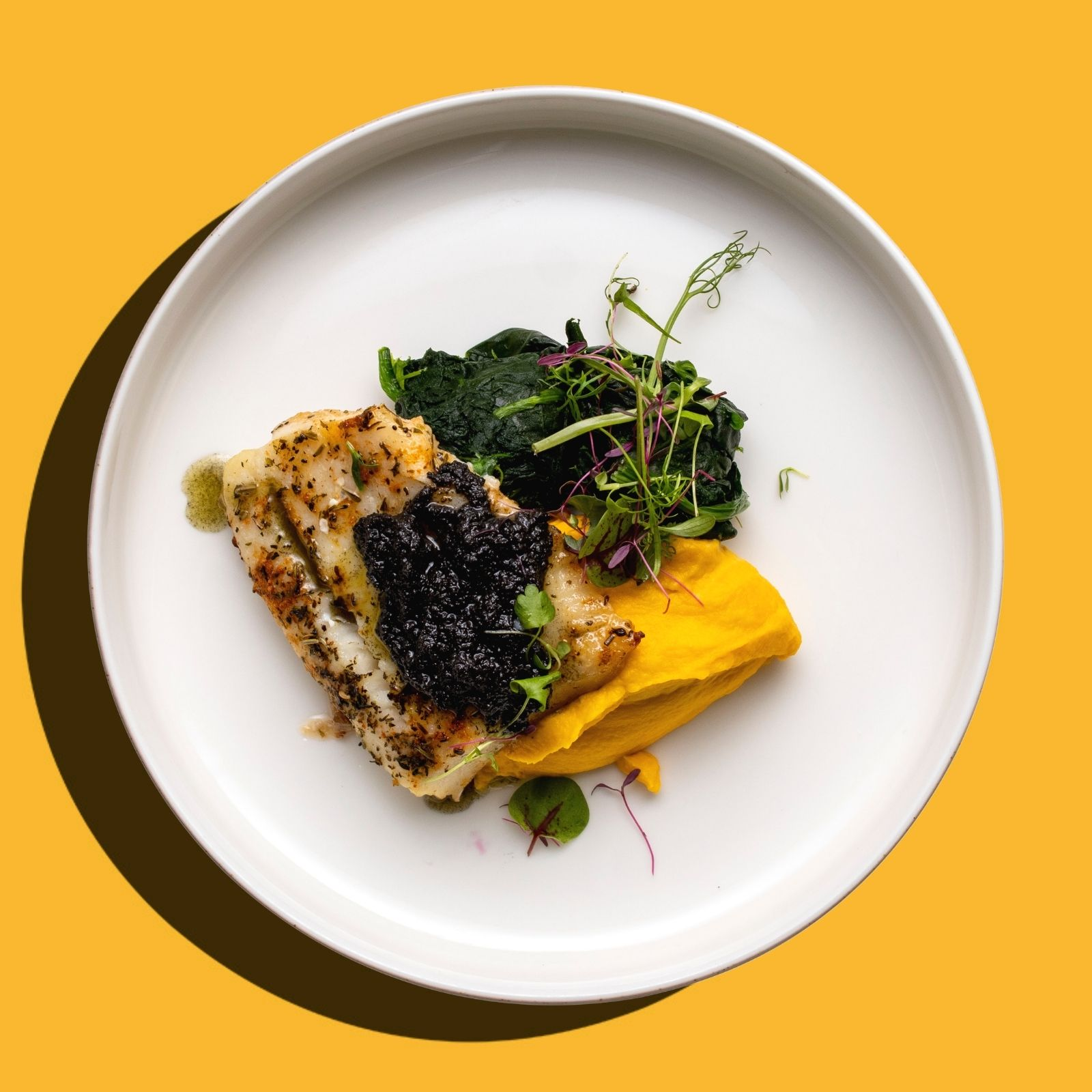 Baked Atlantic Cod Fish with Olive Tapenade (Keto- Friendly)