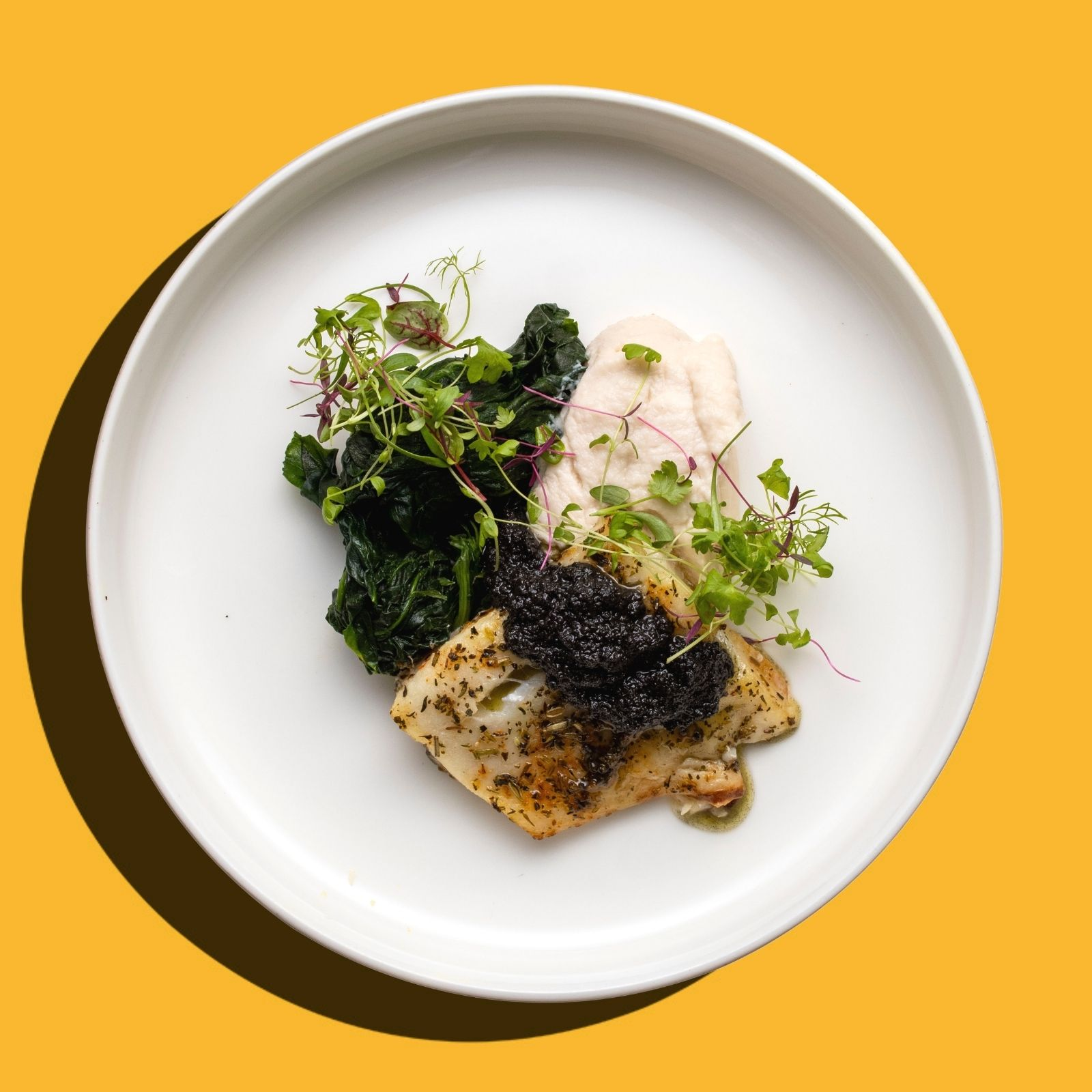 Baked Atlantic Cod Fish with Olive Tapenade