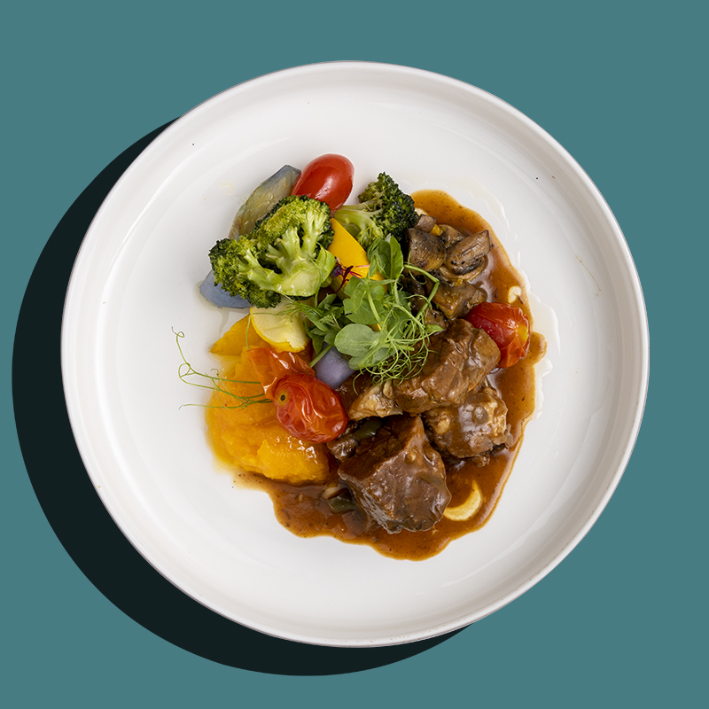 French Burgundy Beef Stew (Low-Cal)