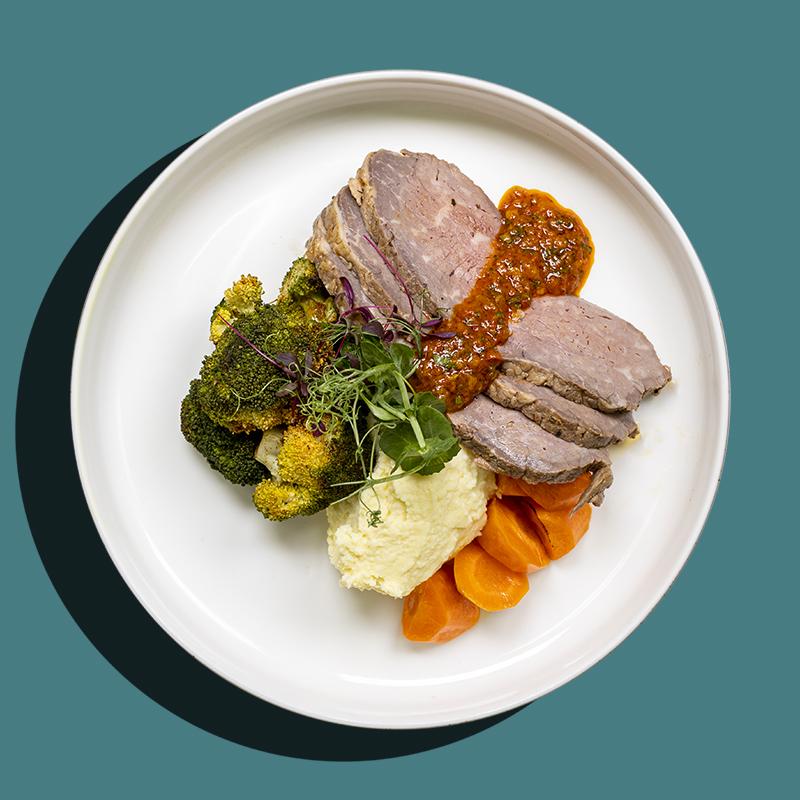 Harissa Marinated Roasted Beef (Low-Cal)