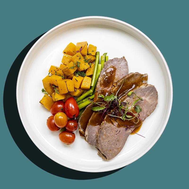 Slow-Roasted Beef Striploin (Keto-Friendly)