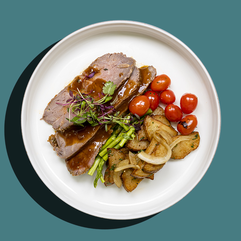 Slow-Roasted Beef Striploin (Low-Cal)