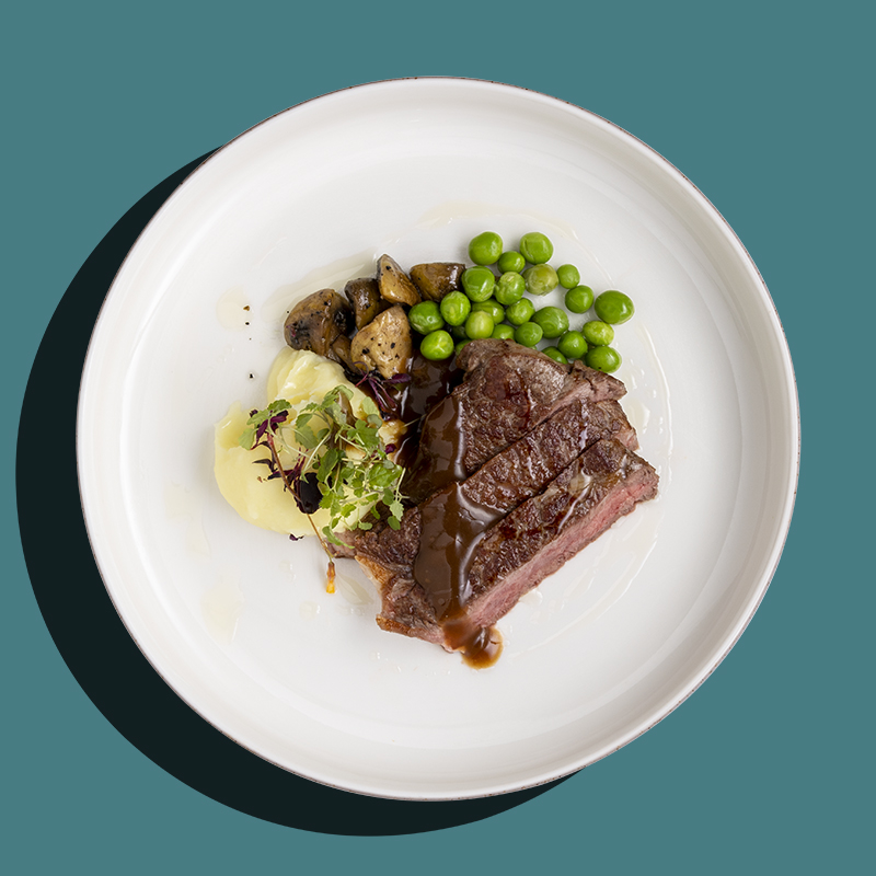 Sunday Roasted Beef with Italian Herb Mustard (Low-Cal)