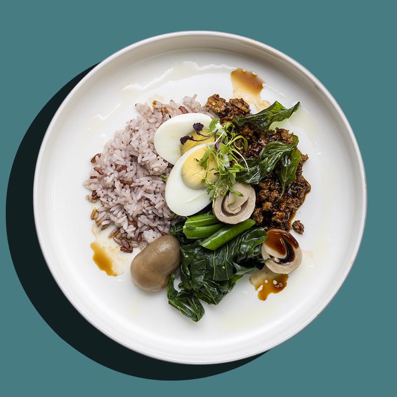 Thai Basil Minced Chicken with Long Bean