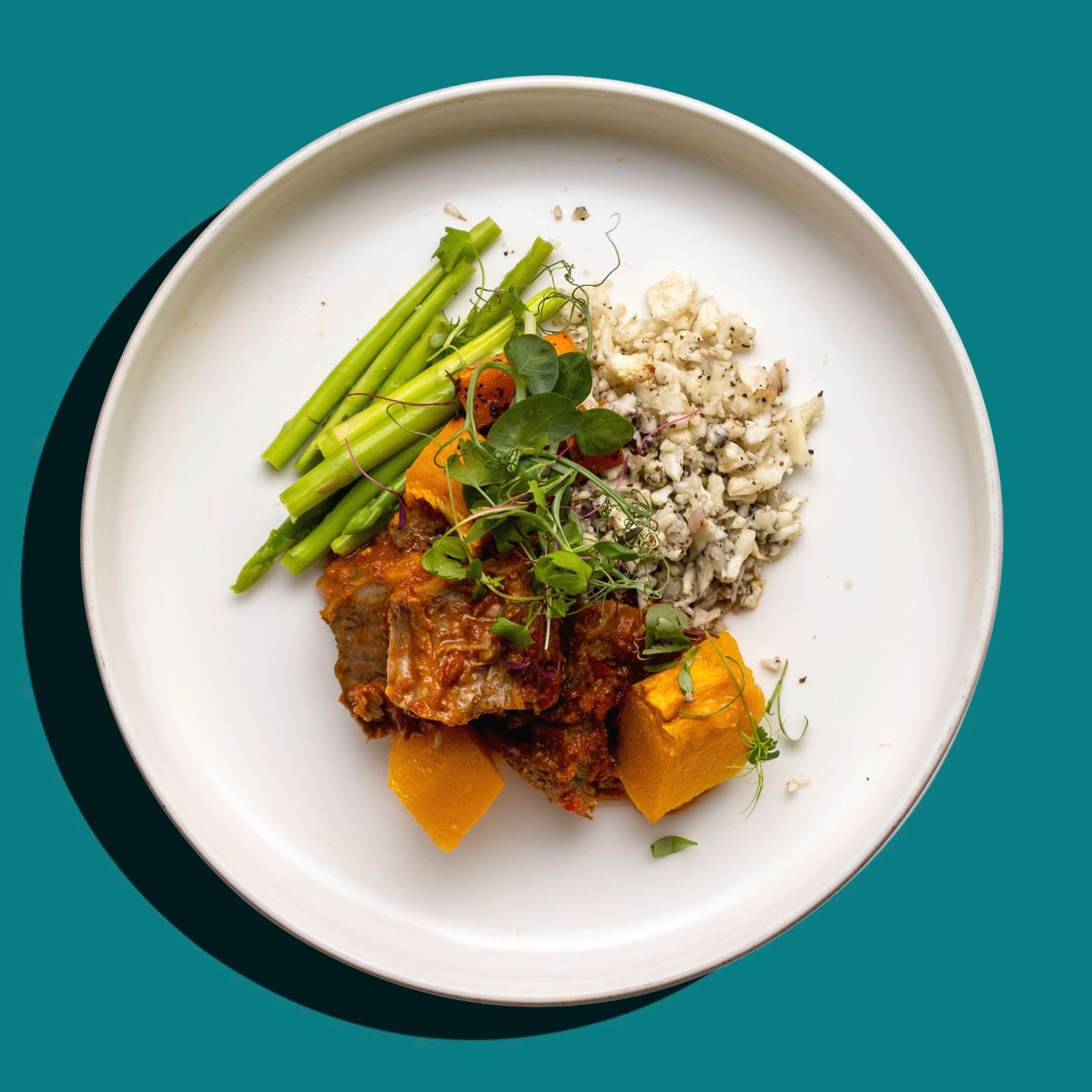 Thai Massaman Curry Beef Stew with Pumpkin (Keto- Friendly)