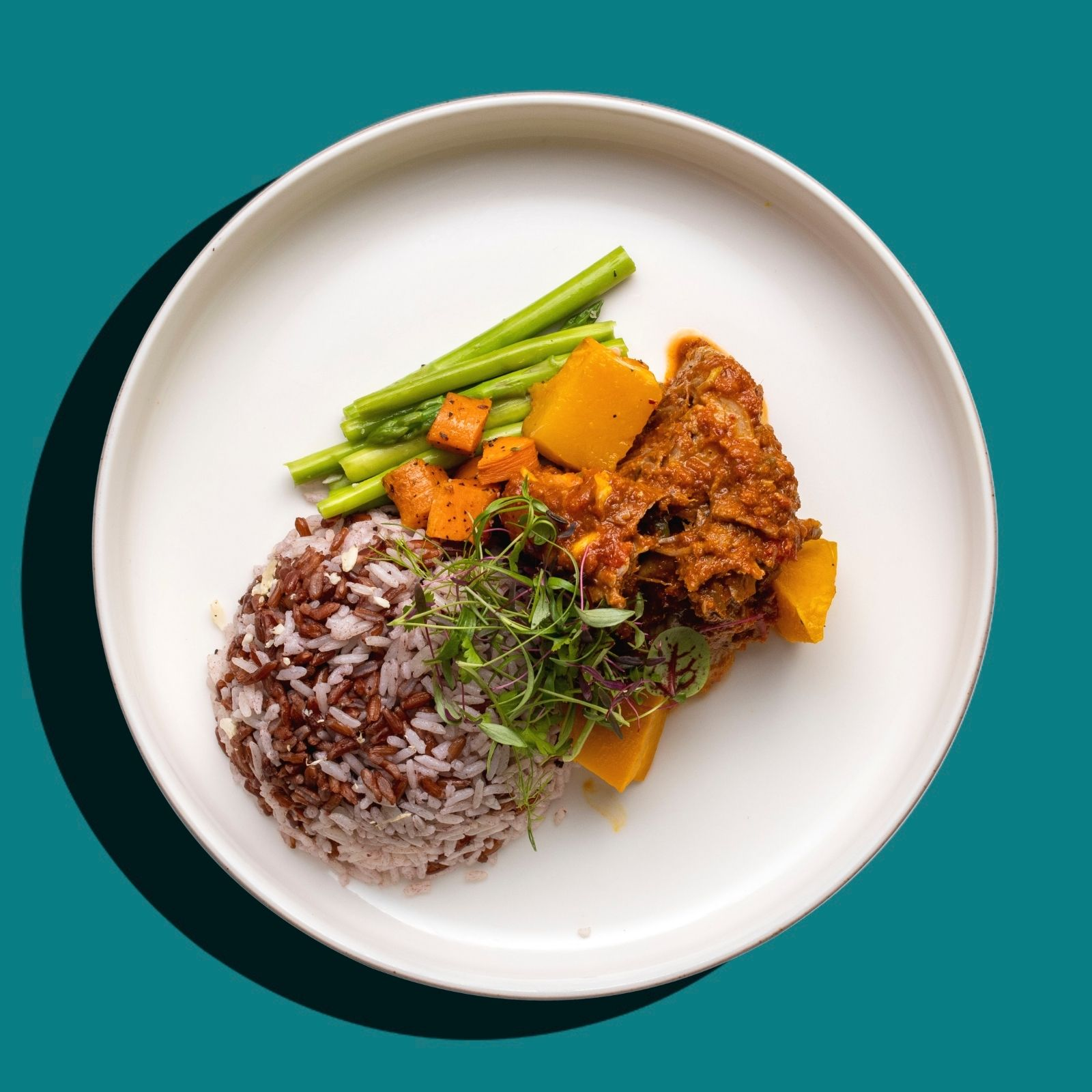 Thai Massaman Curry Beef Stew with Pumpkin (Low-Cal)