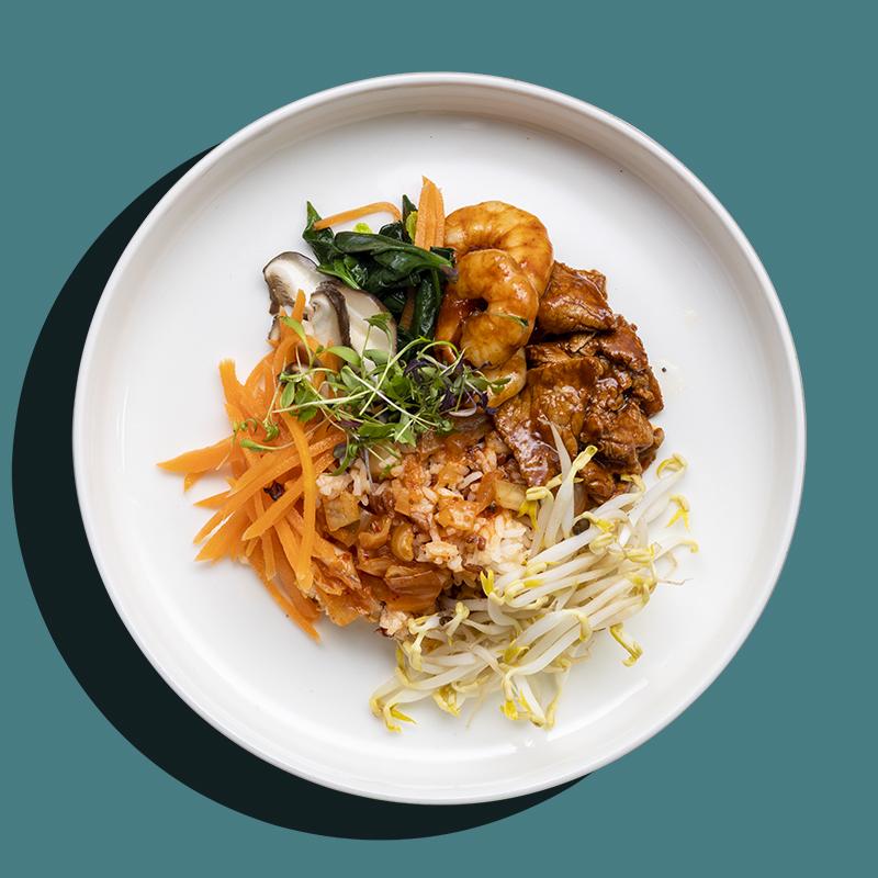Wok-Fried Beef Bulgogi & Gochujang Prawn (Low-Cal)